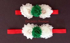 Mommy and Me Matching              Christmas Headbands.....by                      DeLindasBoutique