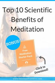 Top 10 Scientific Benefits of Meditation | Two Steps From Bliss | Meditation has many benefits. Here's my 10 meditation benefits, empirically backed up by modern studies. #twostepsfrombliss #benefitsofmeditation #meditation Meditation For Health, Meditation For Anxiety, Free Meditation, Meditation Benefits, Meditation For Beginners, Guided Meditation, Spiritual Practices, Spiritual Life, Spiritual Growth