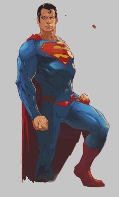 """kalelsonofkrypton: """"Superman by Samuraiminister. """""""