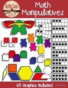 Math Manipulatives Clipart  $