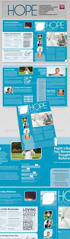 4-Pages Newsletter Template   Newsletter templates