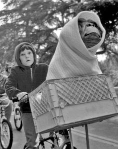 'E.T. the Extra-Terrestrial', 1982, directed by Steven Spielberg.