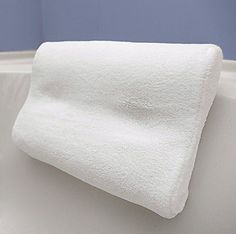 Super Soft Bath Pillow , BONUS Travel Case and Soft Remov