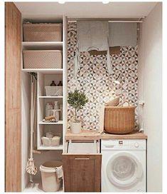Room Design, Room Organization, Laundry Room Decor, House Interior, Bathroom Interior, Small Bathroom, Utility Rooms, Small Rooms, Bathroom Decor