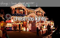 things i love about winter - christmas lights