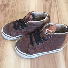 0af5336f5c Shop Kids  Vans Brown size Baby   Walker at a discounted price at Poshmark.  Description  Toddler boys vans size Sold by Fast delivery