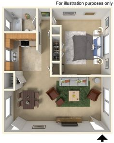Your apartment will also have ceiling fans, air conditioning, cable ready access, dishwasher and oversized closets. **Ask about our NO SECURITY DEPOSIT**
