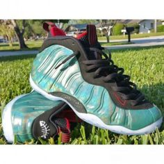 size 40 f3743 6bbcd Nike Air Foamposite One Gone Fishing Dark Emerald Challenge Red-Black  575420-300 Cheap