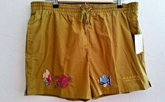 Summer Marina Swim Trunks Perry Ellis Board Shorts Sz M Rare Unique   #PerryEllis #BoardShorts