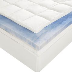 Sleep Innovations 4-Inch Dual Layer Mattress Topper.   10-year limited warranty.  Made in the USA. Twin Size Sleep Innovations http://www.amazon.com/dp/B00CEMGNTE/ref=cm_sw_r_pi_dp_AfKavb0Q1MYBH