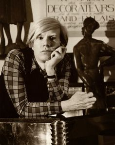Portrait of Andy Warhol in 1983