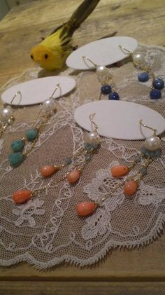 Gorgeous earrings from my favorite shop♪