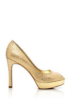 Baylor gold heels by Anne Klein