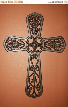 1 Pc 14 2 Very Large Cast Iron Cross Free Shipping Huge Wall Hanging Decor Ready To Paint C 33