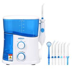 UV Disinfection Water Flosser Molain Oral Irrigator with 7 Multifunctional Tips for Oral and Dental Caring None Bathroom Applied