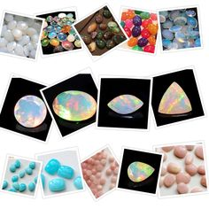 Opal Cabochons - A vast variety in Ethiopian Welo Opal White and Black, Blue Opal, Pink Opal and the latest new range In neon colors only on Gemsforjewels - SHOP FLAT 50% store wide!! Hurry till stick Lasts!
