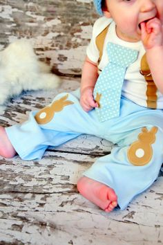 Easter Baby Boys Easter Bunny Knee Patch pants by shopantsypants- adorable!