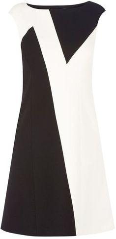 Karen Millen England Zig Zag Colourblock Dress - Lyst
