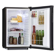 Klarstein Beerbauch Minibar nevera (volumen de 65 litros, clase A, bajo nivel de ruido, compartimientos en puerta, 2 rejillas, temperatura regulable) - negro: Amazon.es: Hogar