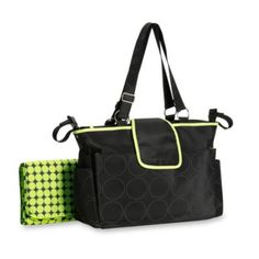 Always be prepared with your Out and About diaper bag by Carter's®. This tonal dot diaper bag has a sleek outside with multiple broad pockets on the front, back and sides. Black Diaper Bag, Best Diaper Bag, Baby Diaper Bags, Black Tote Bag, Bags 2015, Thing 1, Green Bag, Carters Baby, Messenger Bag