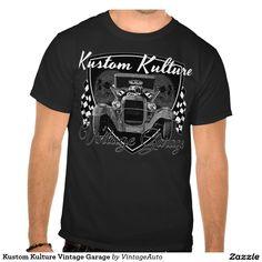 Kustom Kulture Vintage Garage Tee Shirt