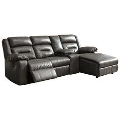 Coahoma Sectional with Chaise and Storage Console by Signature Design by Ashley at Becker Furniture World Home Theater Furniture, Family Room Furniture, Moving Furniture, Furniture Dolly, Furniture Logo, Furniture Removal, Den Furniture, Furniture Buyers, Steel Furniture