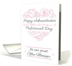 28 best administrative professionals day cards images on pinterest happy administrative professionals day for office managers card m4hsunfo