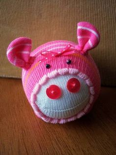 Lucille ~sock pig~ - TOYS, DOLLS AND PLAYTHINGS