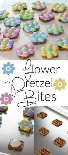 These Spring Flower Pretzel Bites are the perfect way to welcome Spring into your home. They are also the perfect easy Easter dessert to make with your kids! desserts for kids Spring Flower Pretzel Bites - 3 Ingredient Sweet & Salty Treat! Easter Deserts, Easy Easter Desserts, Easter Snacks, Easter Appetizers, Desserts To Make, Easter Brunch, Easter Treats, Köstliche Desserts, Dessert Recipes
