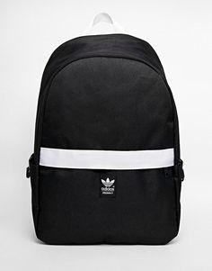 adidas Originals Backpack with Contrast Zip at asos.com 5aac39b91ed3d