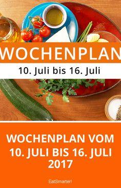 Ernährungsumstellung leicht gemacht! Mit dem Wochenplan vom 10. Juli bis 16. Juli 2017 kannst du dich ganz einfach eine Woche lang gesund ernähren ohne lange Kochsessions!