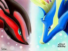 #Pokemon #pokemonartacademy #pokemonxy #Yveltal #Xerneas