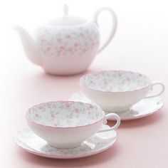 Cutie Rose features small pink flowers on delicate giftware items. Small Pink Flowers, Casual Dinnerware, Rose Tea, Noritake, Cup And Saucer Set, Beautiful Patterns, Ceramic Pottery, Bone China, Tea Set