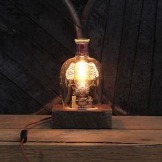 Handmade Recycled Four Roses Bourbon Bottle by ReWickedCandle