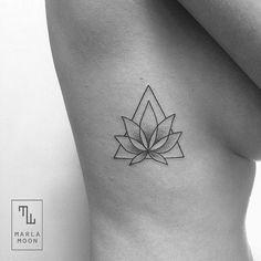 geometric lotus tattoo - Google Search