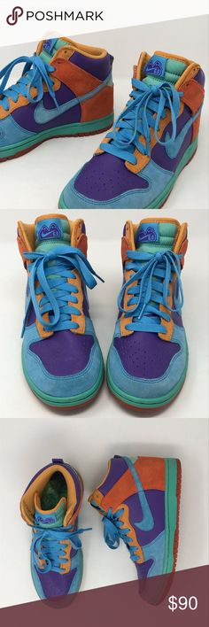 c057fc89a5bcc Nike 6.0 Color Block High Top Sneaker Size 8 EUC Very Nice! Nike 6.0 Women s