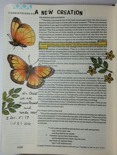 2Corinthians 5:17 If anyone is in Christ he is a new creation, by Paula Kay Bourland. Flutter By stamp set by Red Rubber Designs