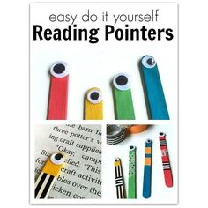 DIY Reading Pointers from @allienoflashcardsPerfect for distracted readers!  #faith #readingisfun #readingactivities #thisishomeschool #educationispower