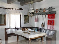 Tidy Up, Traditional House, Hungary, Cribs, Cottage, Houses, Restaurant, Rustic, Dining