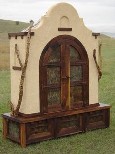 Alamo Gun Cabinet - eatured in Contemorary Western Design by Thea Marx '05 & Cowboys & Indians magazine Oct. '09 & sold for $18,900.00 This cabinet holds 14 rifles 5 fly rods & 10 pistols in a display that would rival any gun slinger! This is a one-of-a-kind. - #WesternHome