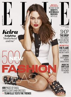 keira knightley elle uk march 2015 03 Keira Knightley strikes a pose on the cover of Elle UK magazine's March 2015 issue, out on newsstands on Thursday, January Here's what the English… V Magazine, Fashion Magazine Cover, Fashion Cover, Magazine Covers, Movie Magazine, Keira Knightley, Keira Christina Knightley, Celebrity Babies, Celebrity Gossip