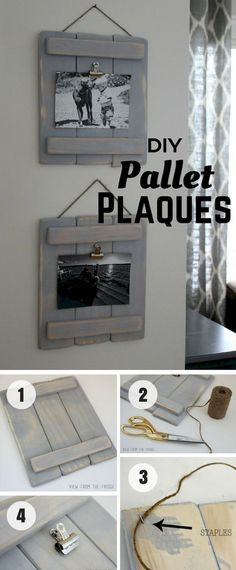 simple and stunning DIY wood projects ideas for decorating your home - DIY Home Decor - Pallet Crafts, Diy Pallet Projects, Pallet Ideas, Woodworking Projects, Wood Ideas, Woodworking Books, Woodworking Furniture, Art Projects, Diy Simple