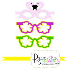 3D Glasses Luau Party Shades/Photobooth Props/Party Favors by PaperShades on Etsy