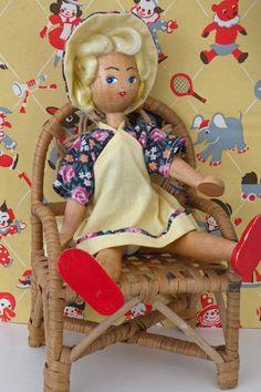 I had a wooden Polish jointed doll. She finally fell apart.