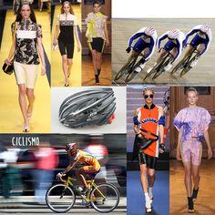"""Il ciclismo da pista veloce è tornato prepotentemente di moda. Complici i pantaloncini """"ciclisti"""" in lycra aderente, rigorosamente sopra al ginocchio. Usa il nero per ridurre di una taglia la circonferenza della coscia e usa la stampa digitale per renderli più divertenti. Indossa in abbinamento top couture, iper lavorati con volumi importanti, così bilanci la forme. E se vuoi raccogli i capelli in treccine saettanti lungo la testa effetto caschetto aerodinamico.Sfilate: Jean Paul Gaultier…"""