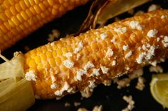 Grilled Corn with Cayenne, Lime, and Cotija #CHOWBBQ