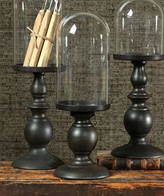 Cooper Pedestal - Small with Glass Dome - Tall - Jars Bottles Domes - Domes