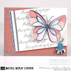 Beautiful Day thinking of you card - Charlet Mallett, Stampin' Up! Occasions 2018
