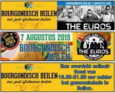 Bourgondisch Beilen, 7 augustus met EEN GRATIS OPTREDEN van The Euro's. Bourgondisch Beilen wordt voor de 4de keer georganiseerd, nu dit jaar voor het eerst achter het gemeentehuis in Beilen. Het beloofd weer een groot spektakel te worden met dit jaar als thema Zuid-Afrika. http://koopplein.nl/middendrenthe/1628010/bourgondisch-beilen-7-augustus-2015.html