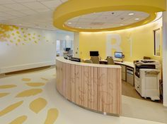 Curve and design for Nurse's Station pods (Nationwide Children's Hospital)